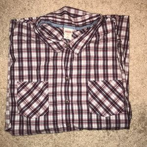  3/$15 MOSSIMO SUPPLY CO. PLAID BUTTON DOWN 4X